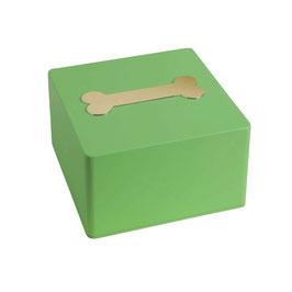 Urna in legno - modello Colore con osso cod. LWOS Verde