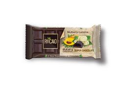 ROCAO - Maulbeere-Lucuma Rohschokolade 38g (roh, bio, vegan)