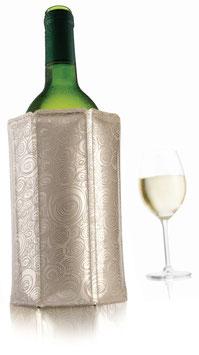 Rapid Ice Active Cooler Platinum für Weinflaschen von VacuVin