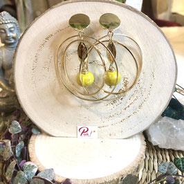 Bo double anneau doré céramique