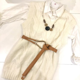 Robe pull ivoire