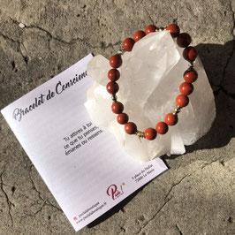 Bracelet de Conscience Jaspe rouge