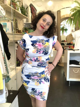 Robe courte tropical