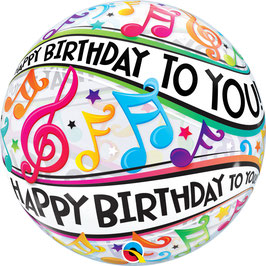 Standard-BubbleBallon - Happy Birthday to you - Musiknoten
