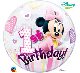Standard-BubbleBallon - Disney Baby Minnie- 1st Birthday