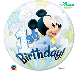 Standard-BubbleBallon - Disney Baby Mickey- 1st Birthday