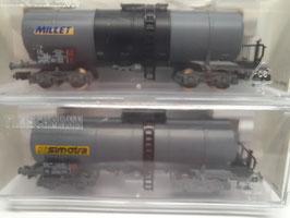 2 wagons citerne MILLET et SIMOTRA  N 1/160 Réf:848008 FLEISCHMANN