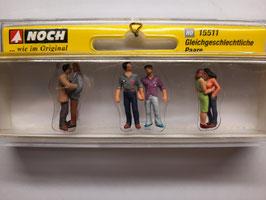 3 couples de gay / homo HO 1/87 NOCH Réf: 15511