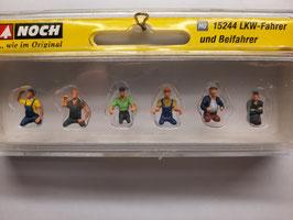 6 chauffeurs de camion sans jambes HO 1/87 NOCH Réf:15244