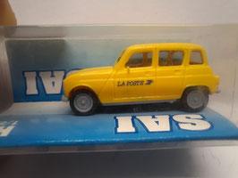 "4 L Renault "" laposte"" HO 1/87 SAI Réf:2205"
