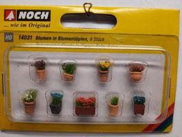 pot avec plantes HO 1/87 NOCH Réf:14031