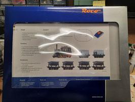 Coffret de démarrage analogique Locomotive à vapeur «Chemin de fer forestier» avec train de wagonnets  HOe  ROCO Réf:31035