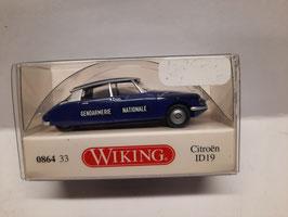 """Citroën DS 19 """" gendarmerie """"HO 1/87 WIKING Réf:86433"""