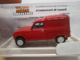 4 L camionnette rouge HO 1/87  BREKINA Réf: 14702