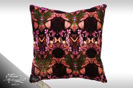 Seiden-Samtkissen -purple bumblebee I-