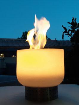 Tischfeuerschale aus Quarzglas Ethanol