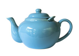 Ceramic Teapot with Infuser. Color Vivian Teal.