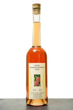 Likör vom roten Weinbergspfirsich