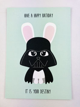 Studio Inktvis Postkarte - Star Wars Darth Bunny