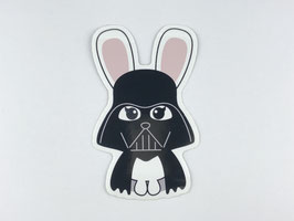 Studio Inktvis - Sticker XL - Star Wars Darth Bunny