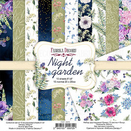 "Fabrika Decoru 8x8 Paper Set ""Night Garden"""