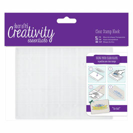 Docrafts A6 Clear Stamp Block