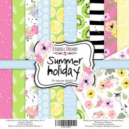 "Fabrika Decoru 8x8 Paper Set ""Summer Holiday"""