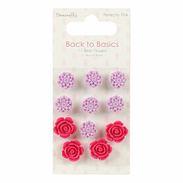 Dovecraft Perfectly Pink Resin Blumen