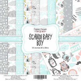 "Fabrika Decoru 8x8 Paper Set "" Scandi Baby Boy"""