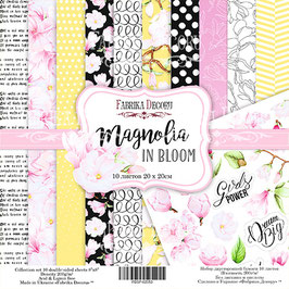 "Fabrika Decoru Double Sided Paper Set ""Magnolia in Bloom"""