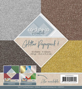 Card Deco Glitzerpapier -  Glitzer 1