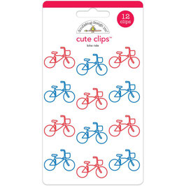 Doodlebug Cute Clips - Bike Ride