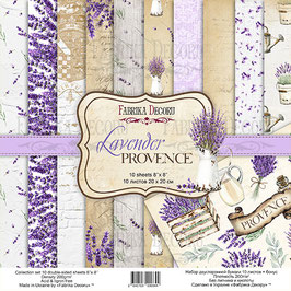 "Fabrika Decoru Double Sided Paper Set ""Lavender Provence"""