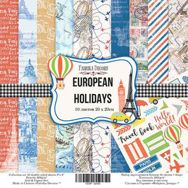 "Fabrika Decoru 8x8 Paper Set ""European Holidays"""
