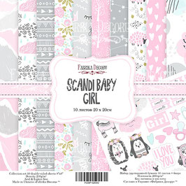 "Fabrika Decoru 8x8 Paper Set "" Scandi Baby Girl"""