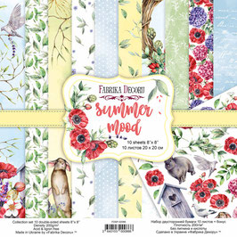 "Fabrika Decoru Double Sided Paper Set ""Summer Mood"""