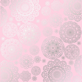 Fabrika Decoru 12x12 Single Papier Silver Napkins rosa