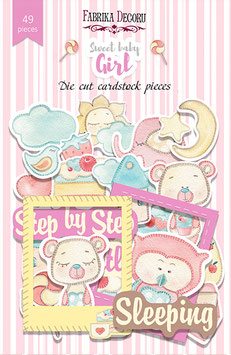 "Fabrika Decoru Die Cuts ""Sweet Baby Girl"""