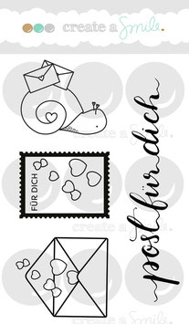 Create A Smile Clear Stamp A7 - Post für Dich