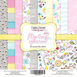 "Fabrika Decoru 8x8 Paper Set "" My Tiny Sparrow Girl"""