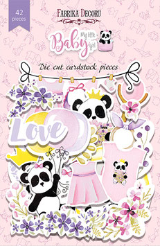 "Fabrika Decoru Die Cuts ""My Little Baby Girl"""