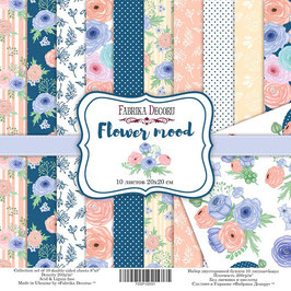"Fabrika Decoru Double Sided Paper Set ""Flower Mood"""
