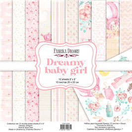 "Fabrika Decoru 8x8 Paper Set ""Dreamy Baby Girl"""