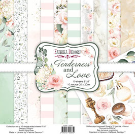 "Fabrika Decoru Double Sided Paper Set ""Tenderness and Love"""