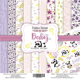 "Fabrika Decoru 8x8 Paper Set "" My little Baby Girl"""