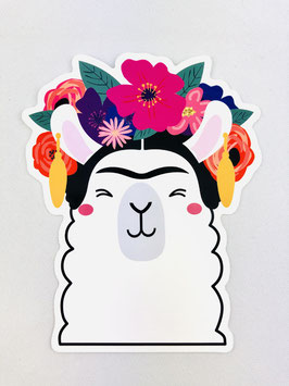 Studio Inktvis - Sticker XL - Frida Kahlo Llama