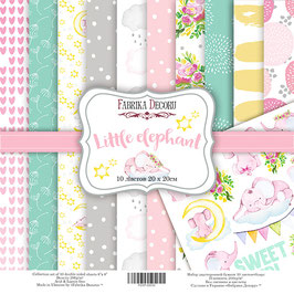 "Fabrika Decoru 8x8 Paper Set "" Little Elephant"""