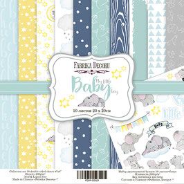 "Fabrika Decoru 8x8 Paper Set "" My little Baby Boy"""