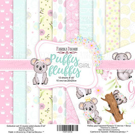 "Fabrika Decoru 8x8 Paper Set "" Puffy Fluffy Girl"""