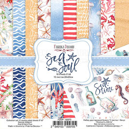"Fabrika Decoru 8x8 Paper Set ""Sea Soul"""